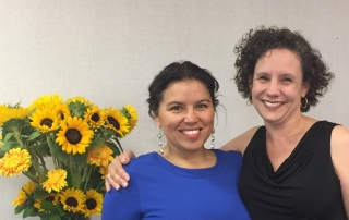 Lynne O'Hara (right)