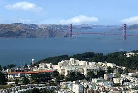 View of Golden Gate Bridge and San Francisco Bay
