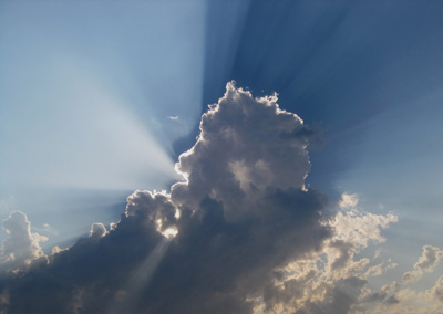 Clouds with Rays of Sunlight