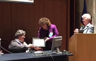 Mary Lou-Breslin receiving Shriver Award