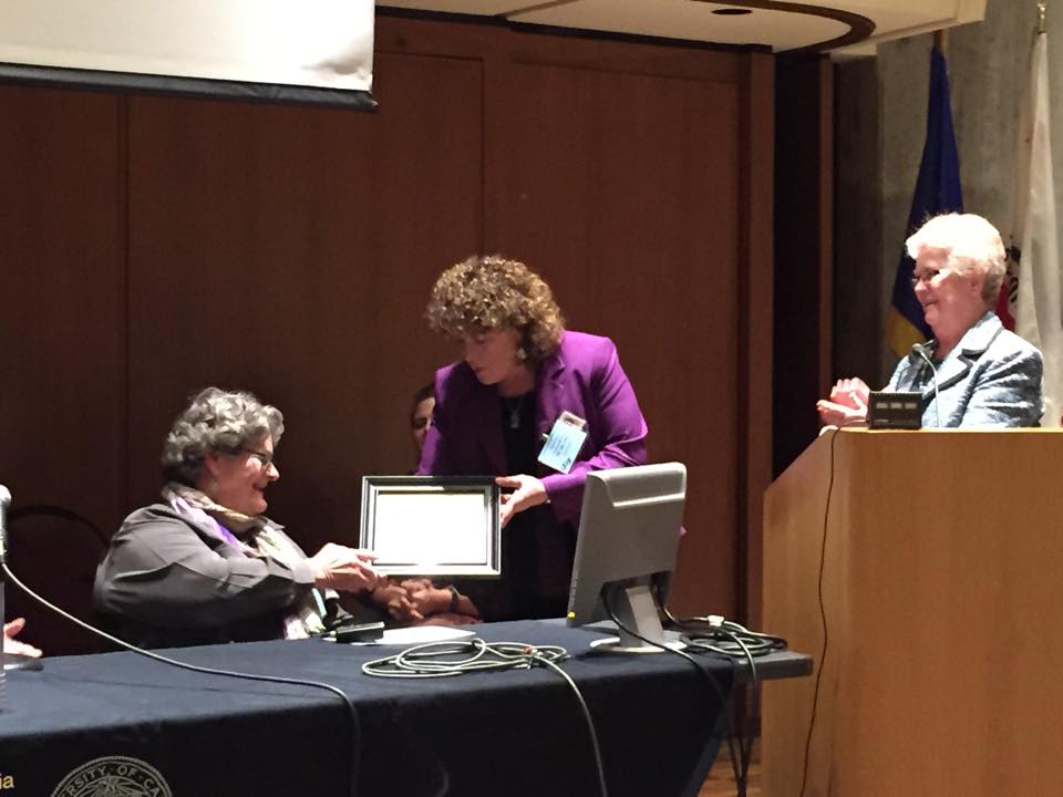 Mary Lou-Breslin receiving Shriver Award
