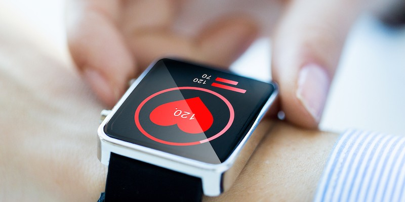 Smart watch with image of heart
